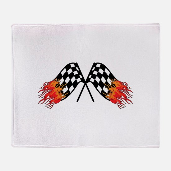 Hot Crossed Flags Throw Blanket