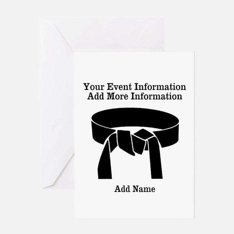 Karate Tournament Greeting Cards