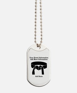 Karate Tournament Dog Tags