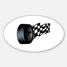 Tire with Flag Decal