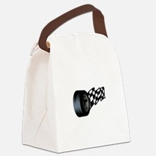 Tire with Flag Canvas Lunch Bag