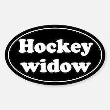 Hockey widow. Oval Decal