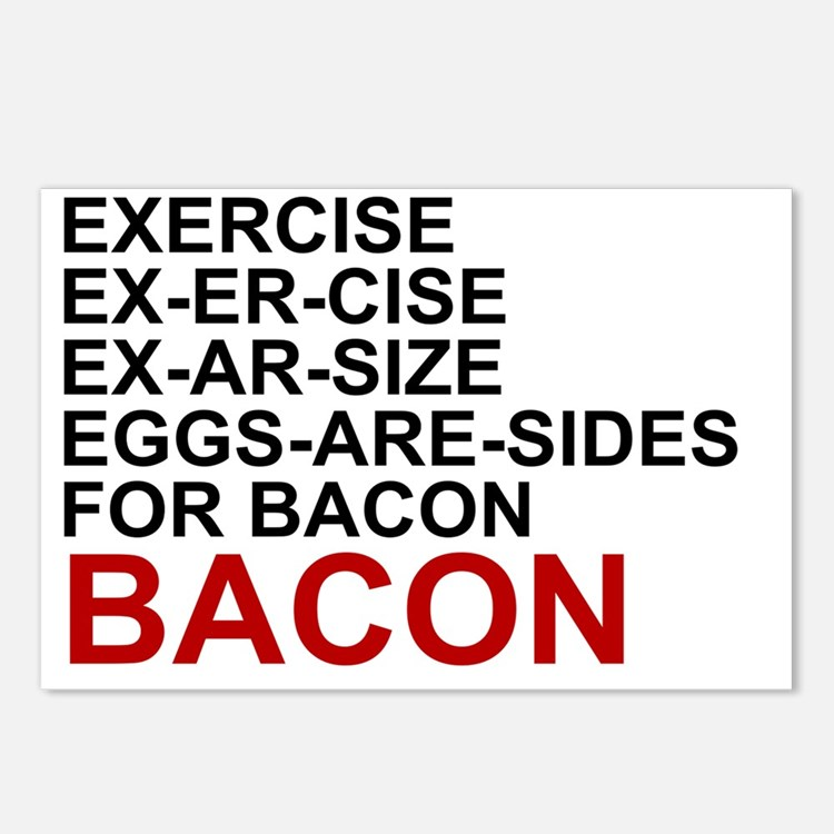 EGGS ARE SIDES FOR BACON Postcards (Package of 8)