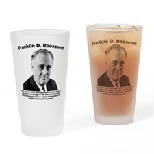 FDR: Wealth Drinking Glass