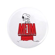 Snoopy - Mom #1 Button
