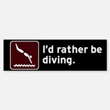 Diving Bumper Bumper Bumper Sticker