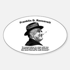 FDR: Conservatives Sticker (Oval)