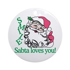Smile Sabta Loves You! Ornament (Round)