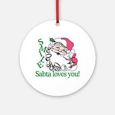 Smile Sabta Loves You! Ornament (Round)