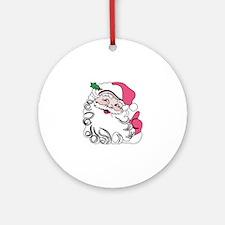 Santa Face Ornament (Round)