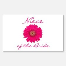 Niece of the Bride Rectangle Decal