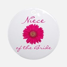 Niece of the Bride Ornament (Round)