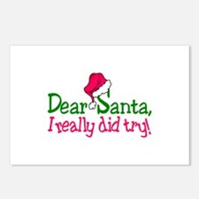 Dear Santa, I Really Did Try! Postcards (Package o