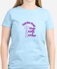 Guardian Angel Works On A Wing & A Prayer T-Shirt
