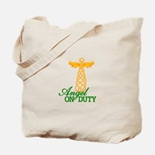 Angel On Duty Tote Bag