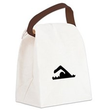 Swimmer Canvas Lunch Bag