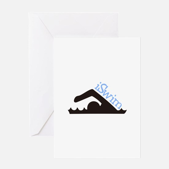 iSwim Greeting Cards