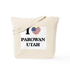 I love Parowan Utah Tote Bag