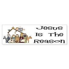 Jesus is the Reason Bumper Car Sticker
