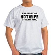 Hotwife Athletic Dept. Ash Grey T-Shirt