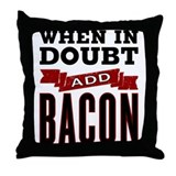 Bacon pillows Throw Pillows