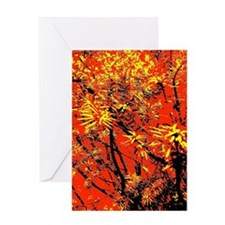 Yellow Yew Greeting Cards
