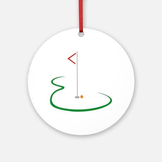 Golf Green Ornament (Round)