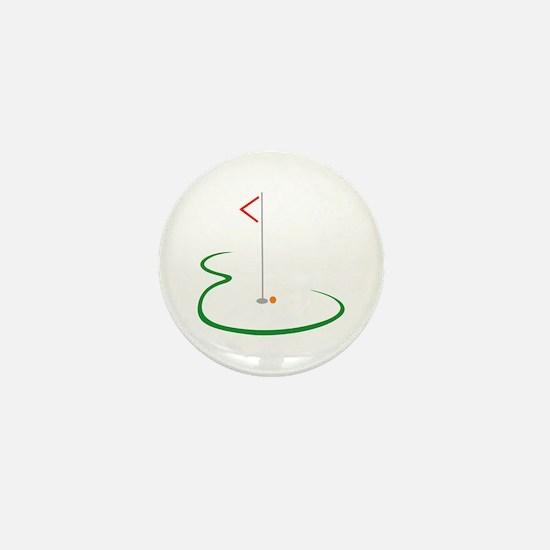 Golf Green Mini Button