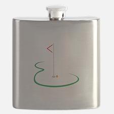 Golf Green Flask