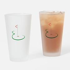Golf Green Drinking Glass