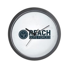 Reach Square Map Background Wall Clock