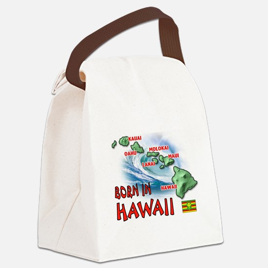 HAWAII BORN Canvas Lunch Bag