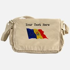 Moldova Flag (Distressed) Messenger Bag