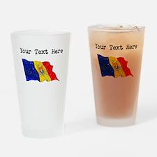 Moldova Flag (Distressed) Drinking Glass