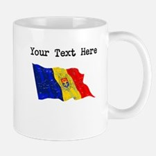 Moldova Flag (Distressed) Mugs