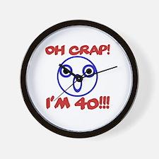 Funny 40th Birthday Wall Clock