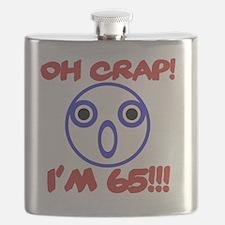 Funny 65th Birthday Flask