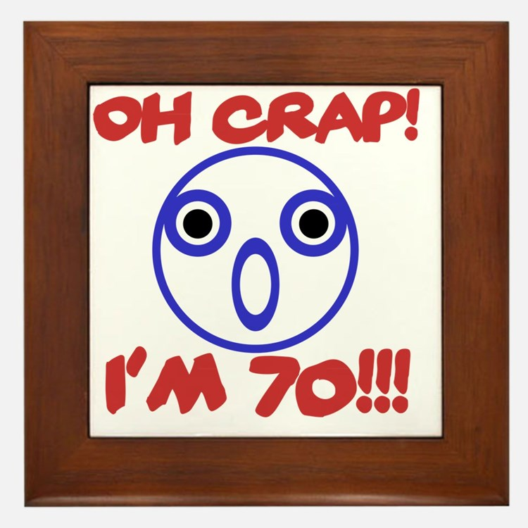 Funny 70th Birthday Framed Tile