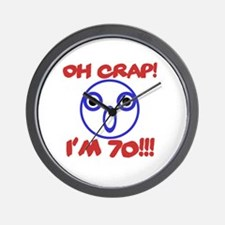 Funny 70th Birthday Wall Clock