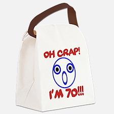 Funny 70th Birthday Canvas Lunch Bag