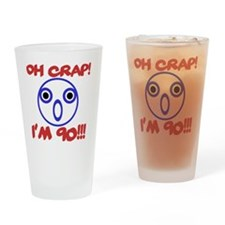 Funny 90th Birthday Drinking Glass
