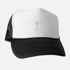 Golfer Outline Trucker Hat