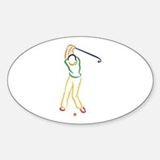 Golfer Outline Decal