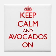Keep Calm and Avocados ON Tile Coaster