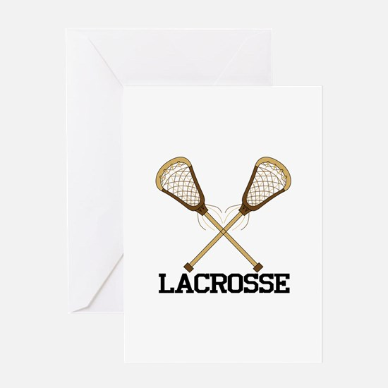 Lacrosse Greeting Cards
