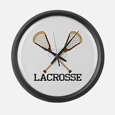 Lacrosse Large Wall Clock