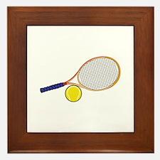 Tennis Racquet and Ball Framed Tile