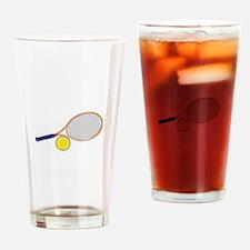 Tennis Racquet and Ball Drinking Glass