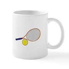 Tennis Racquet and Ball Mugs