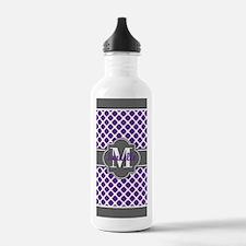 Monogrammed Purple & G Water Bottle